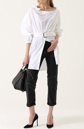 Женская удлиненная хлопковая блуза с поясом Rachel Comey, цвет белый, арт. 47-619 CRISP в ЦУМ | Фото №1