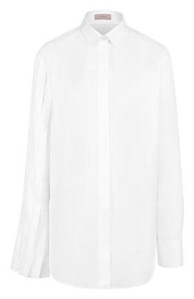 Хлопковая блуза прямого кроя   Фото №1