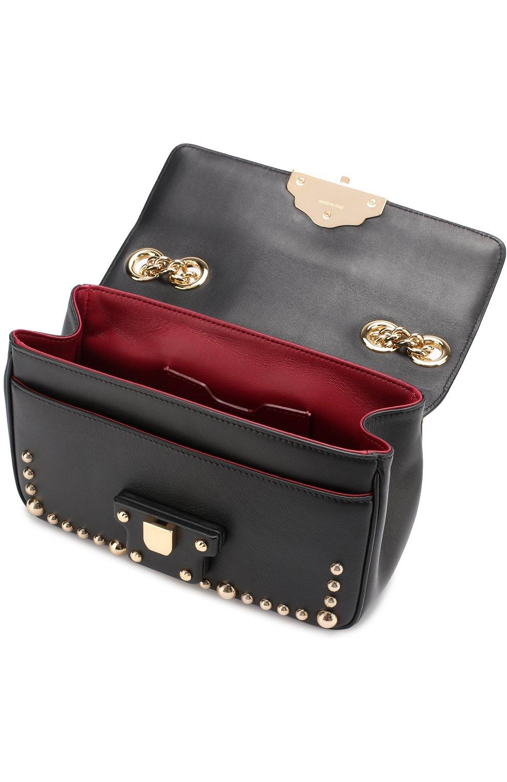 Сумка Lucia с заклепками Dolce & Gabbana черная цвета | Фото №4