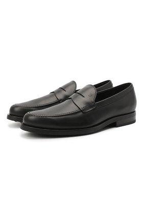 Мужские кожаные пенни-лоферы TOD'S черного цвета, арт. XXM0ZF0Q920PLSB999 | Фото 1