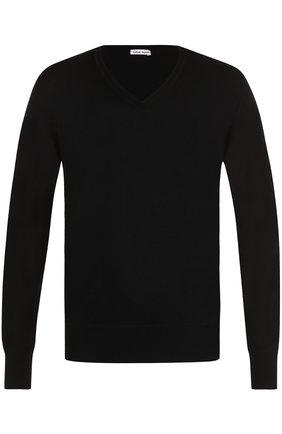 Кашемировый пуловер тонкой вязки Tomas Maier серый | Фото №1