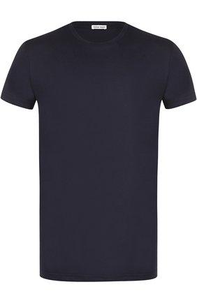Хлопковая футболка с круглым вырезом Tomas Maier черная | Фото №1
