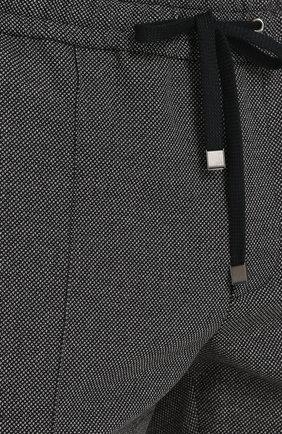 Брюки из смеси шерсти и хлопка с поясом на резинке Dolce & Gabbana светло-серые | Фото №5