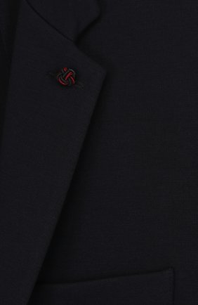 Однобортный пиджак джерси | Фото №3