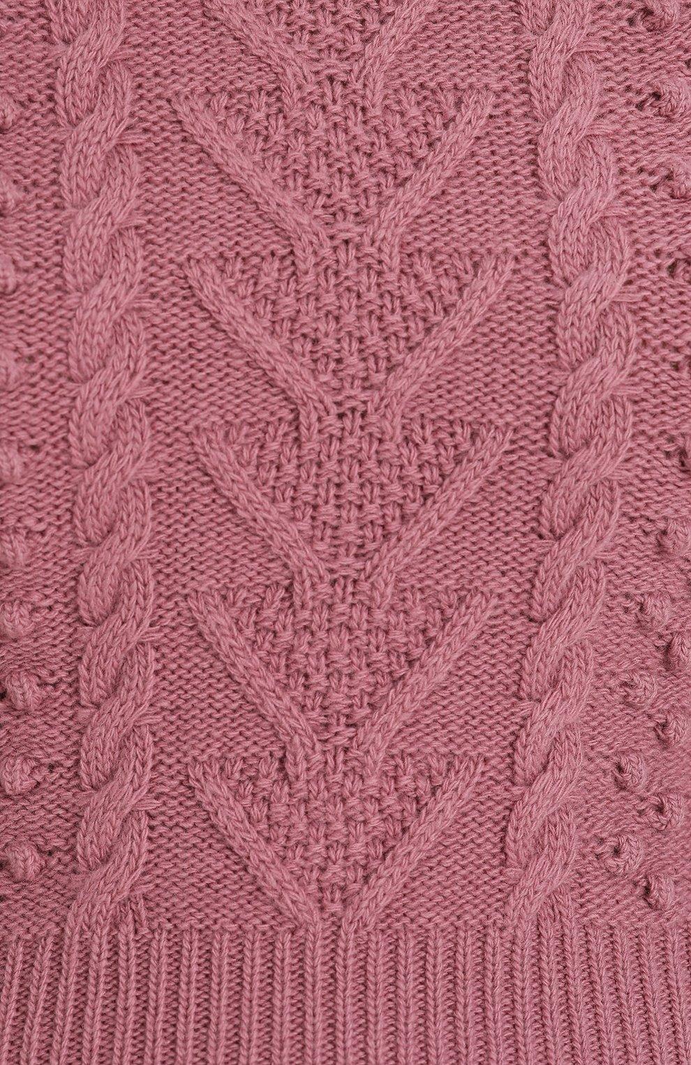 Укороченный топ фактурной вязки Valentino розовый | Фото №5