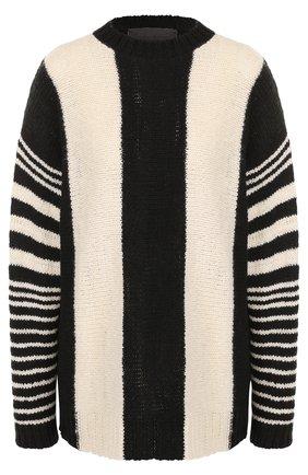 Удлиненный кашемировый пуловер с круглым вырезом | Фото №1