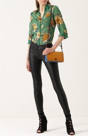 Женские кожаные леггинсы ALICE + OLIVIA черного цвета, арт. C000124264 | Фото 2