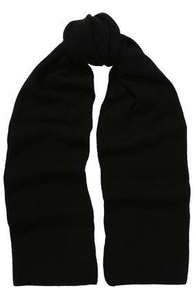 Вязаный шарф из кашемира Inverni черный   Фото №1