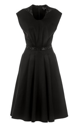 Приталенное платье-миди с декоративной отделкой   Фото №1