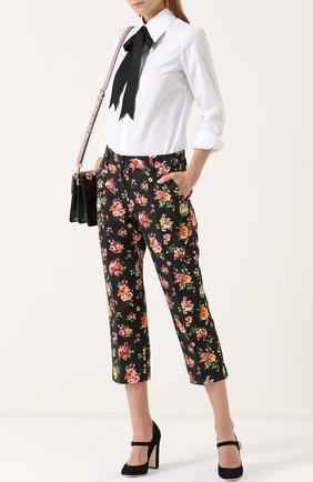 Укороченные брюки с цветочным принтом Dolce & Gabbana разноцветные   Фото №2
