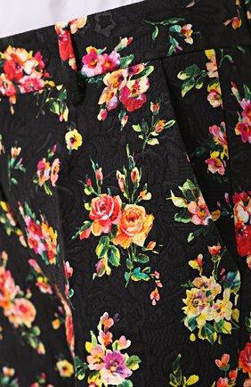 Укороченные брюки с цветочным принтом Dolce & Gabbana разноцветные   Фото №5