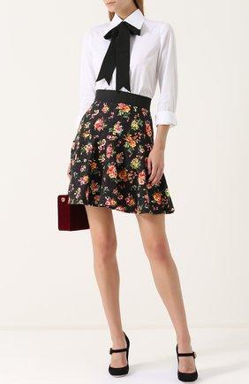 Мини-юбка с оборками и цветочным принтом Dolce & Gabbana разноцветная | Фото №2