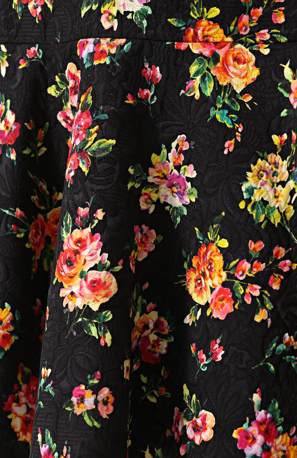 Мини-юбка с оборками и цветочным принтом Dolce & Gabbana разноцветная | Фото №5