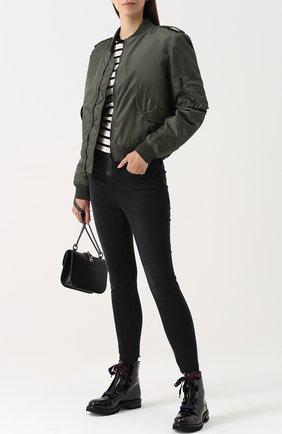 Куртка на молнии с внутренней отделкой из меха AS65 темно-серая | Фото №1