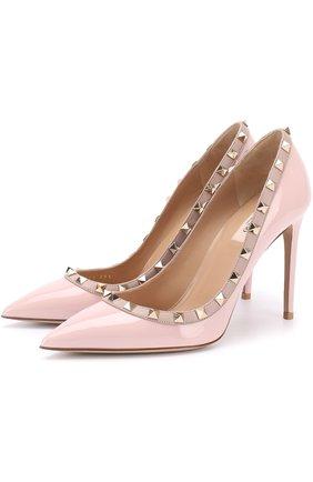 Лаковые туфли Valentino Garavani Rockstud на шпильке | Фото №1