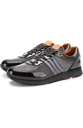 Комбинированные кроссовки Asiya на шнуровке | Фото №1