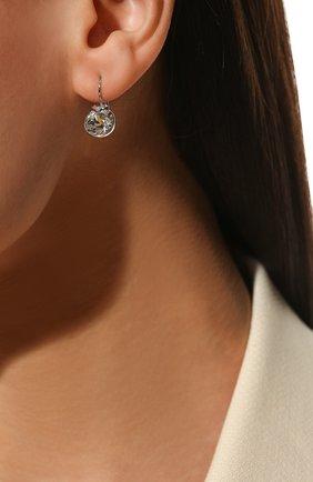 Серьги Bella Swarovski серебряные | Фото №1