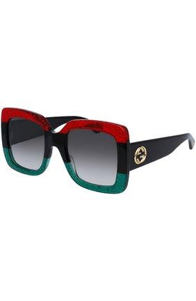 Женские солнцезащитные очки GUCCI разноцветного цвета, арт. 0083 001 | Фото 1