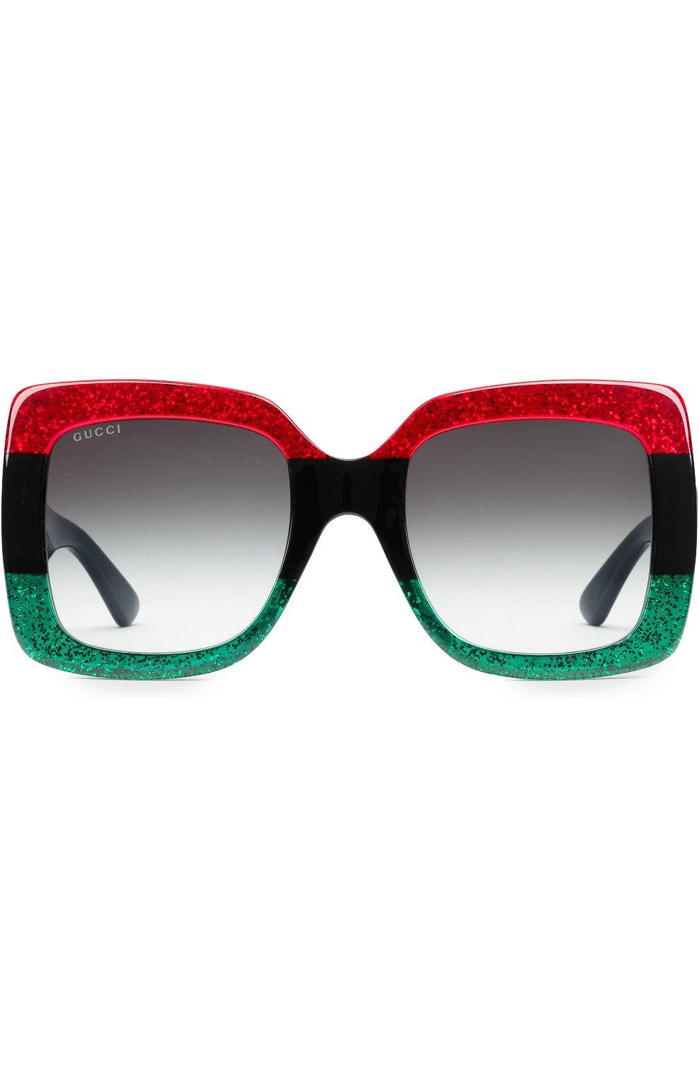 Женские солнцезащитные очки GUCCI разноцветного цвета, арт. 0083 001 | Фото 2
