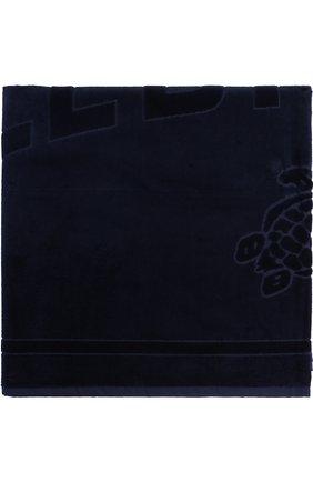 Мужские пляжное полотенце VILEBREQUIN темно-синего цвета, арт. SAN/P400P | Фото 1