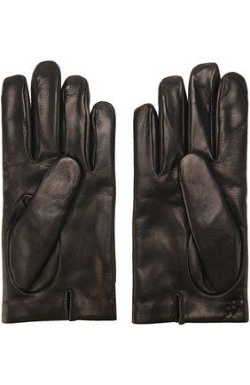 Мужские кожаные перчатки с кашемировой подкладкой BRIONI черного цвета, арт. 05S2/04752 | Фото 2