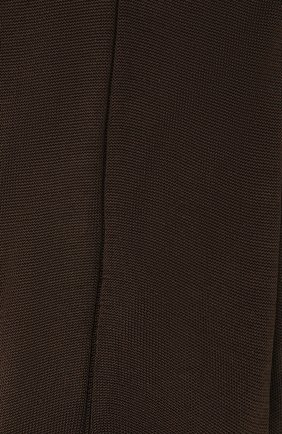 Мужские шелковые носки BRIONI коричневого цвета, арт. 0VMC/P3Z21   Фото 2 (Материал внешний: Шелк; Кросс-КТ: бельё)