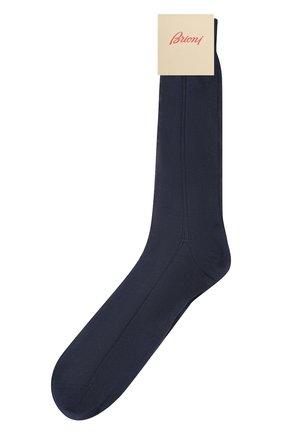 Мужские шелковые носки BRIONI синего цвета, арт. 0VMC/P3Z21 | Фото 1