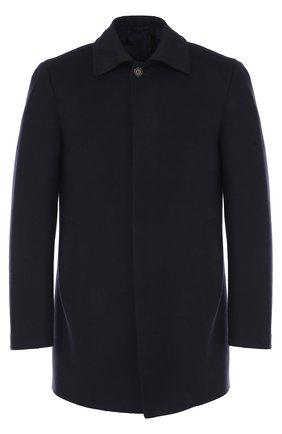 Укороченное пальто из смеси шерсти и кашемира с шелком | Фото №1