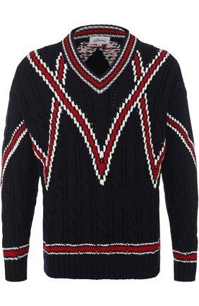 Шерстяной вязаный свитер | Фото №1
