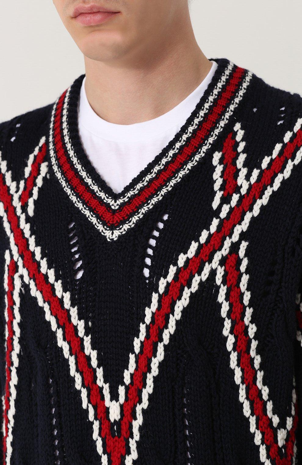Шерстяной вязаный свитер | Фото №5