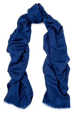 Мужской кашемировый шарф GIORGIO ARMANI синего цвета, арт. 745212/7A118 | Фото 1