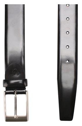 Мужской кожаный ремень с металлической пряжкой CANALI черного цвета, арт. 50/KA00034 | Фото 2