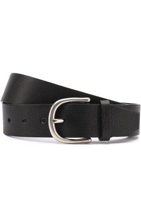 Мужской кожаный ремень с металлической пряжкой TOM FORD черного цвета, арт. TB210H-C68   Фото 1