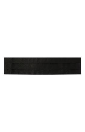 Мужской шелковый камербанд CANALI черного цвета, арт. 05/HJ00040 | Фото 1