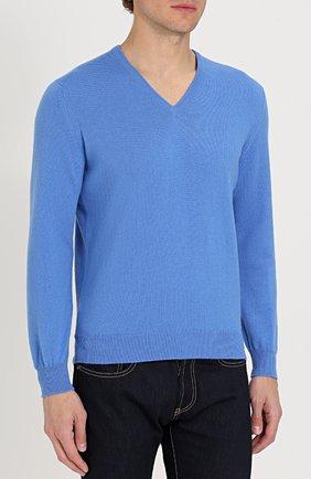 Кашемировый пуловер тонкой вязки | Фото №3