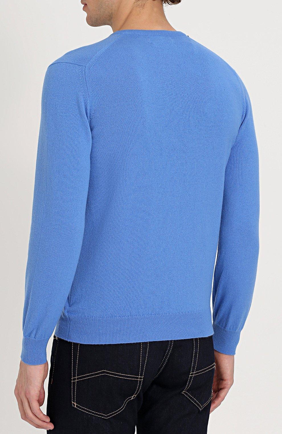 Кашемировый пуловер тонкой вязки | Фото №4