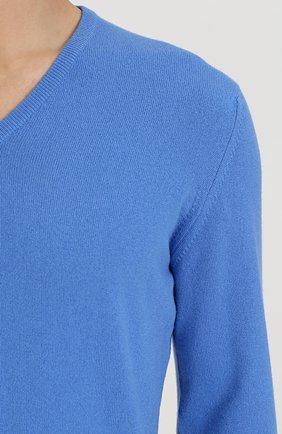 Кашемировый пуловер тонкой вязки | Фото №5