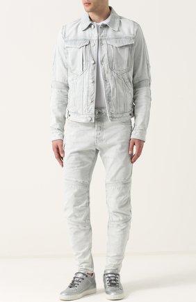 Зауженные джинсы с декоративной отделкой | Фото №2