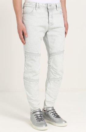 Зауженные джинсы с декоративной отделкой | Фото №3