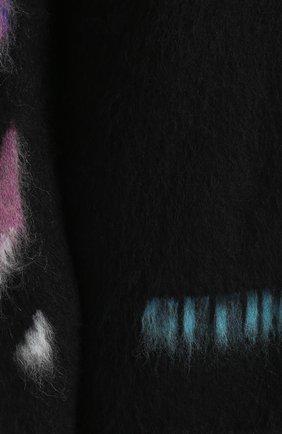 Шерстяной удлиненный джемпер с контрастной отделкой | Фото №5