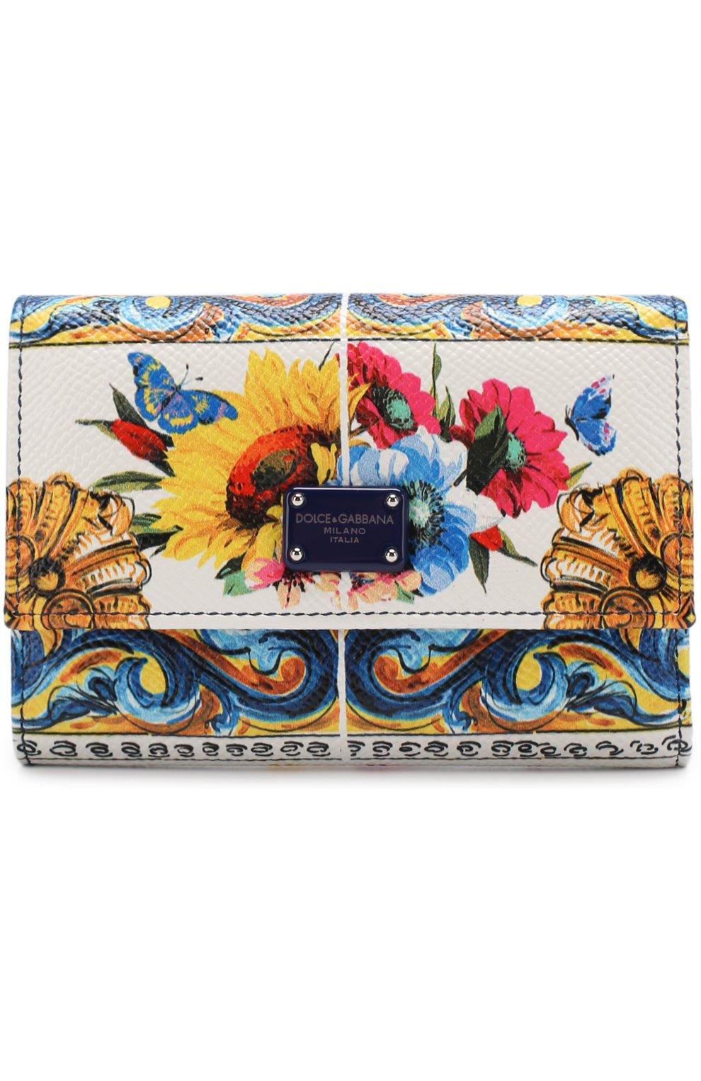 Кожаный кошелек с принтом | Фото №1