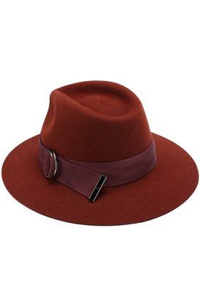 Женская фетровая шляпа rico с лентой MAISON MICHEL коричневого цвета, арт. 1061011003/RIC0 | Фото 2