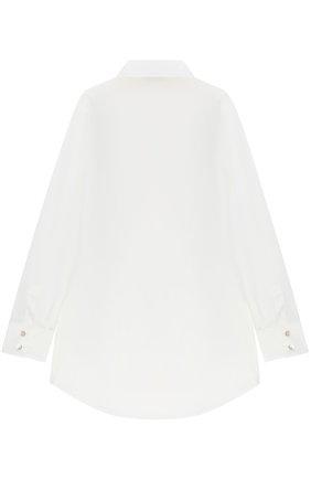 Детская хлопковая блуза с аппликациями Jakioo белого цвета | Фото №1