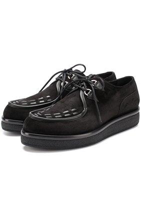 Замшевые ботинки Valentino Garavani на толстой подошве