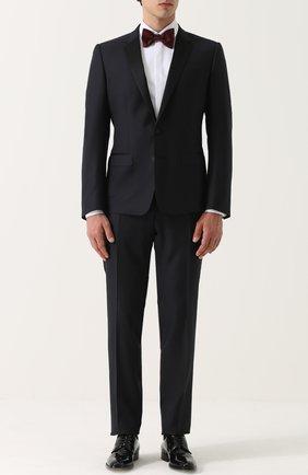 Шерстяной смокинг с шелковой отделкой Dolce & Gabbana темно-синий | Фото №1