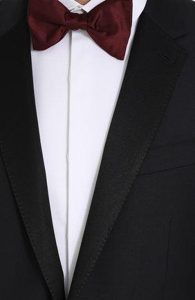 Шерстяной смокинг с шелковой отделкой Dolce & Gabbana темно-синий | Фото №6