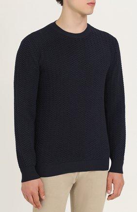 Джемпер из шерсти фактурной вязки | Фото №3
