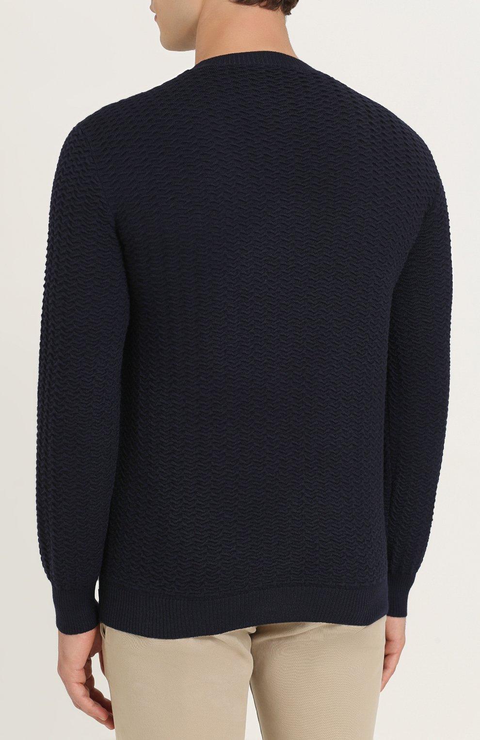 Джемпер из шерсти фактурной вязки | Фото №4