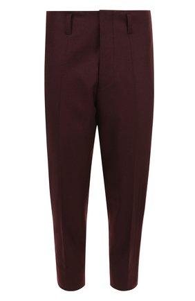 Шерстяные укороченные брюки с заниженной линией шага