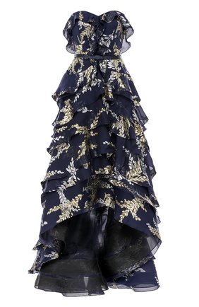 Платье с вышивкой и оборками   Фото №1